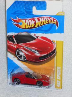 Hot Wheels 2012 HW Premiere 25/50   Ferrari 458 Spider   Red