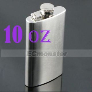 New 10 oz Hip Liquor Alcohol Flask Stainless Steel Screw Cap
