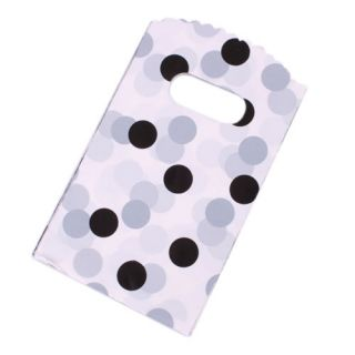 New 50pcs Thickened Plastic Gift Jewelry Bags Black Spot