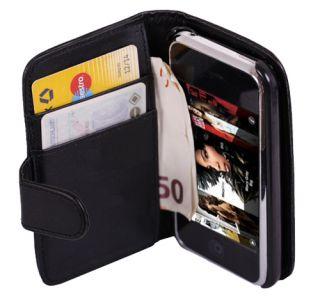 Portemonnaie Leder Tasche Hülle Wallet Case Black #457