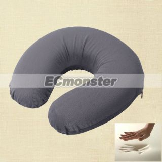 New Comfortable Gray U Shaped Memory Foam Neck Rest Travel Pillow