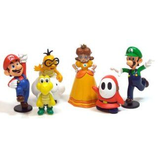 Super Mario Nintendo PVC Figuren 6er Set Serie 2 Spielzeug