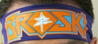 Zack Ryder Broski Purple Adjustable Headband WWE New