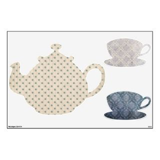 Wallpaper Alice Wonderland Tea Party Set Room Graphics