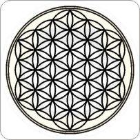 Blume des Lebens Aufkleber Energie Sticker Tattoo