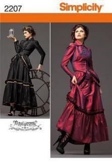 Schnittmuster Steampunk/victorian Kostüm, Rock,Jacke, Bustle