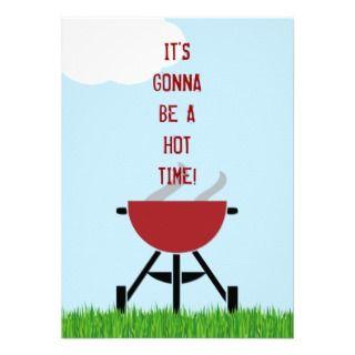 Hot BBQ Party Invitation