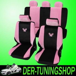 Schonbezüge Sitzbezüge Schmetterling pink Kia Picanto alle Neu