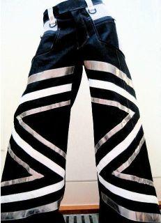 Hip hop Tanz Hose fluoreszierend CSD PHAT Pants Cool L