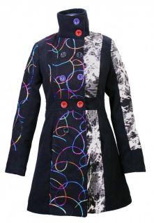Luxus Damen Wintermantel Trenchcoat Winter Jacke Mantel Patchwork
