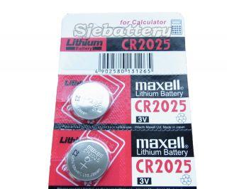2pc GENUINE MAXELL CR2025 2025 LITHIUM BUTTON COIN CELLS BATTERIES