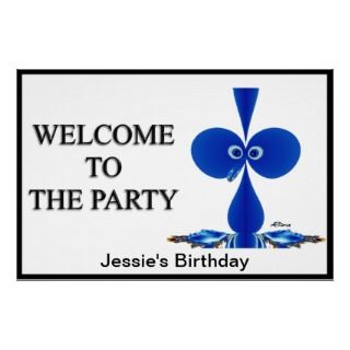 Custom Party Welcome Sign Poster