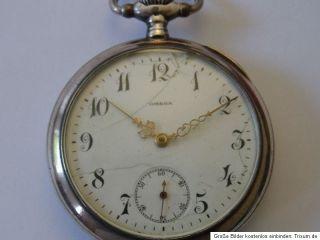Taschenuhr OMEGA 0,800 Silber GRAND PRIX PARIS 1900 antik HTU Silber