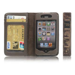 Portemonnaie Leder Tasche Hülle Wallet Case Braun #480