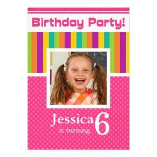 Year Birthday Party Invitations Zebra Girl