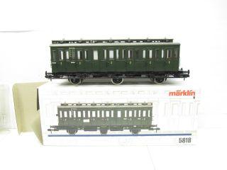 Märklin 5818 Spur1 Personenwagen Abteilwagen DB EP 3 grün OVP NEUW