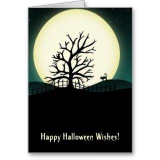 Halloween Silhouette Scene Card