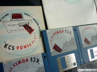 KCS Power PC Board Commodore Amiga 500 + Disks + more