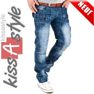 KOSMO LUPO DESIGNER JEANS CARGO STYLE HERREN HOSE Party CLUBWEAR KM485