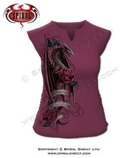 Spiral Direct Dragon Of The Roses Purple T Shirt De Las Rosas