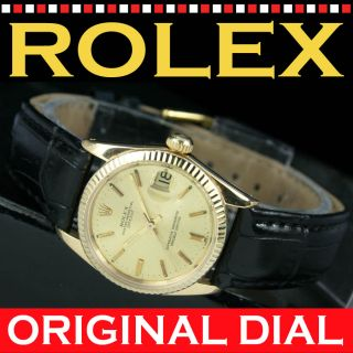 Vintage ROLEX Datejust Automatic Date 18k Solid Gold Unisex Watch Uhr