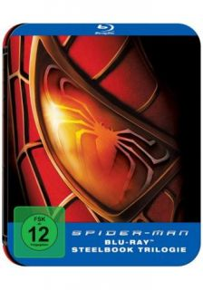 Spider Man   Steelbook Trilogie   3 BLU RAY BOX NEU OVP