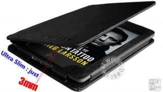 Ultra Slim BLack Leather Case Cover Wallet with Light for