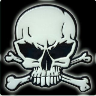Totenkopf Skull 3D Aufkleber Sticker nachleuchtend selbstleuchtend