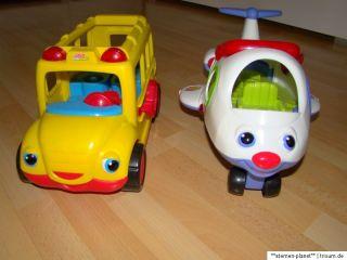 Mattel Fisher Price Little People Schulbus und Flugzeug