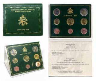 Vatikan Kursmünzensatz (orig., nom. 3,88 Euro) 2005 vz st Johannes