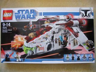Lego Star Wars 7676 Republic Attack Gunship Neu und OVP