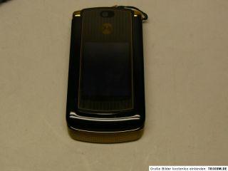 Motorola V8 Handy schwarz gold frei für alle Karten