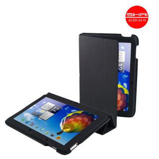 SiKai Stand MicroFiber case for 10.1 Acer Iconia Tab A510 case Black