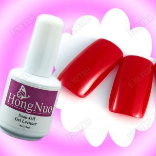 Esmalte Permanente Soak Off UV Gel Esmaltado de Uñas Permanentes Rojo