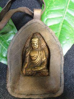 A541 Shakyamuni ,Medizinbuddha aus Bronze mit Yak Leder aus Tibet