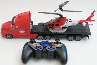 RC Hubschrauber 3.5 Kanal mit Demofunktion plus RC Truck LKW 4 Kanal 2