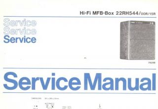 Philips Service Manual für MFB Box 22RH544 22 RH 544