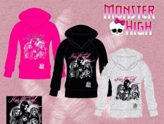 Monster High Kapuzenshirt Longsleeve Shirt 128 140 152 164 m