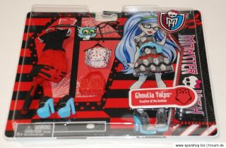 Monster High Fashion Deluxe Y0402 Ghoulia Operetta Frankie Stein
