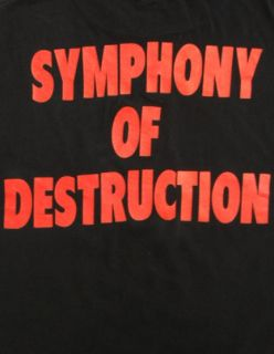 Vintage 90s MEGADETH Heavy Metal SYMPHONY OF DESTRUCTION Concert T