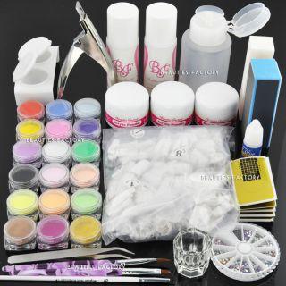 Premium Acrylic Nail Art Powder Liquid Brush Kit #555