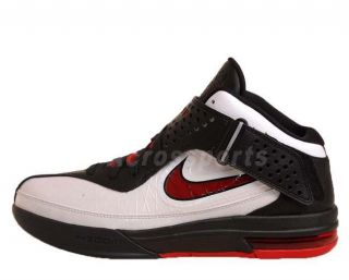 a36ac4a9f915 ... Nike Air Max Soldier V White Red Black LeBron James Basketball Shoes ...