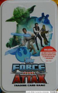 Star Wars FORCE ATTAX Serie 3 Tin Box Sammelbox mit 30 Sammelkarten