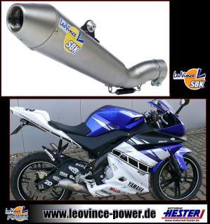 Auspuff LeoVince mit Katalysator, GP Style Yamaha YZF R 125 komplett
