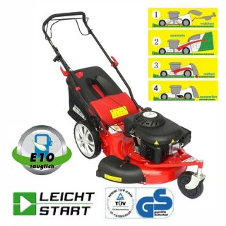 Güde Benzin Rasenmäher Power Tec Garden 4 in 1 BIG WHEELER 561 Trike