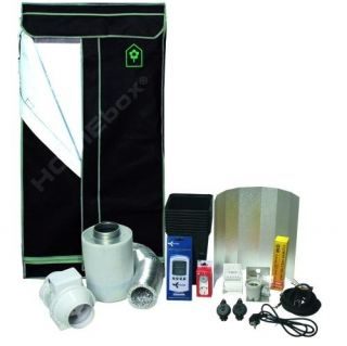 Growbox Homebox Set Erde XS 150 Eco Grow Tent mit Natriumdampflampe