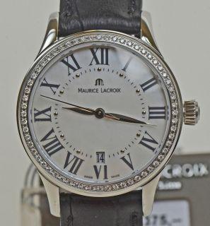 Lacroix Damen Uhr Classic Edelstahl mit Diamantluenette Schmuck Nr 577