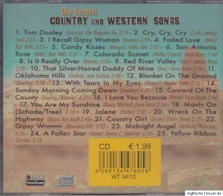 CD   DIE BESTEN COUNTRY UND WESTERN SONGS (NEU)