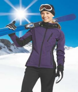 Damen Skijacke Softshell lila Gr. 44