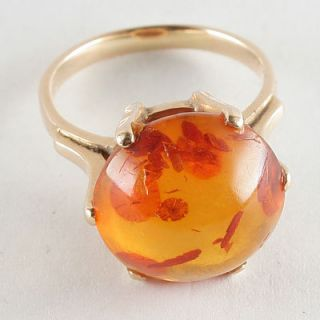 Bernsteinring 585er Gold Ring Bernstein 585 Goldring